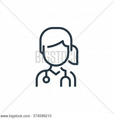 woman icon isolated on white background from coronavirus collection. woman icon trendy and modern wo