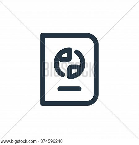 passport icon isolated on white background from travel collection. passport icon trendy and modern p