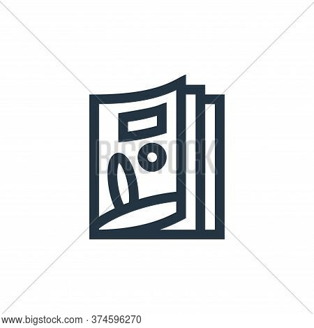 magazine icon isolated on white background from news collection. magazine icon trendy and modern mag