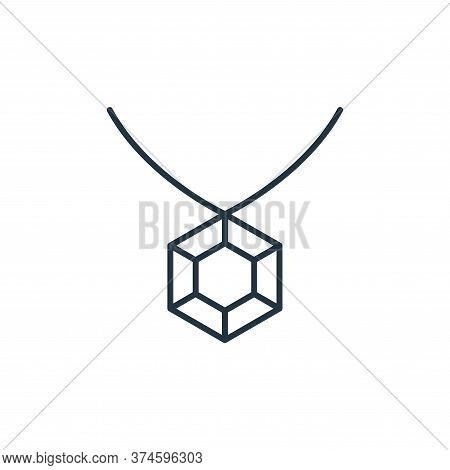 diamond necklace icon isolated on white background from accessory collection. diamond necklace icon