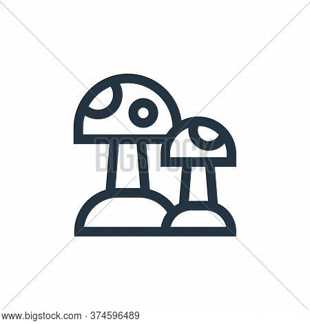 mushroom icon isolated on white background from hippies collection. mushroom icon trendy and modern
