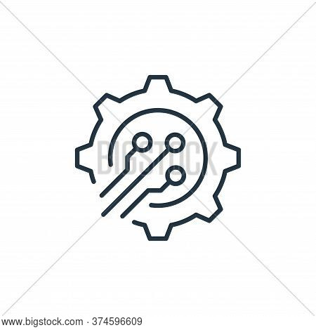 process icon isolated on white background from robotics collection. process icon trendy and modern p