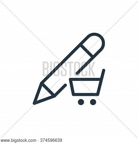 e commerce icon isolated on white background from work office supply collection. e commerce icon tre