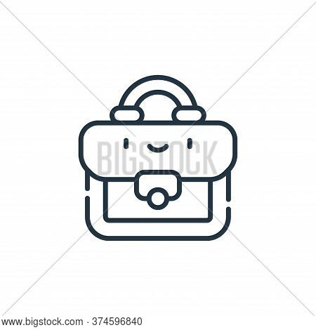briefcase icon isolated on white background from labour day collection. briefcase icon trendy and mo
