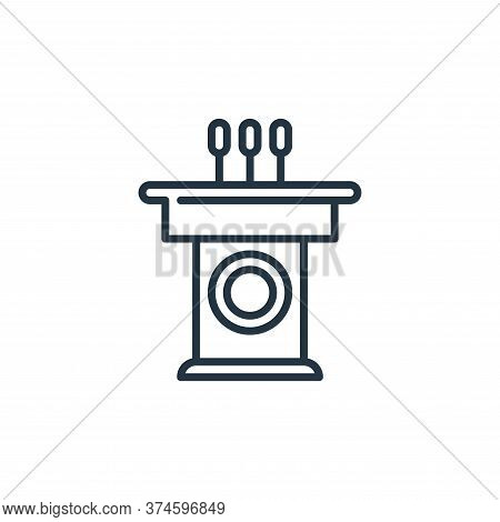 speech icon isolated on white background from management collection. speech icon trendy and modern s