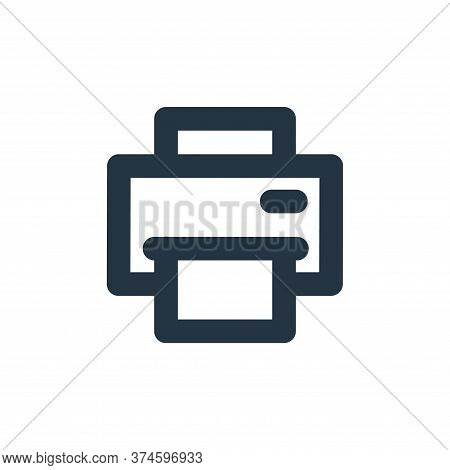 print icon isolated on white background from user interface collection. print icon trendy and modern
