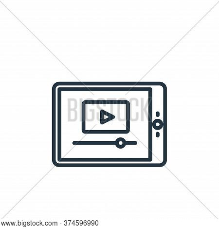 video player icon isolated on white background from elearning collection. video player icon trendy a