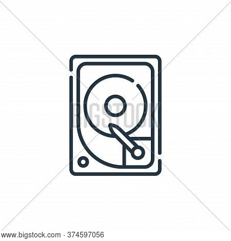 hard disk drive icon isolated on white background from database and servers collection. hard disk dr