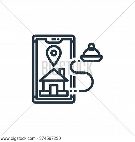 gps icon isolated on white background from food delivery collection. gps icon trendy and modern gps