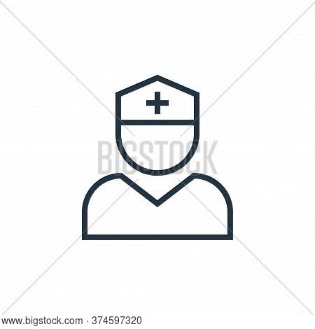 nurse icon isolated on white background from pandemic novel virus collection. nurse icon trendy and