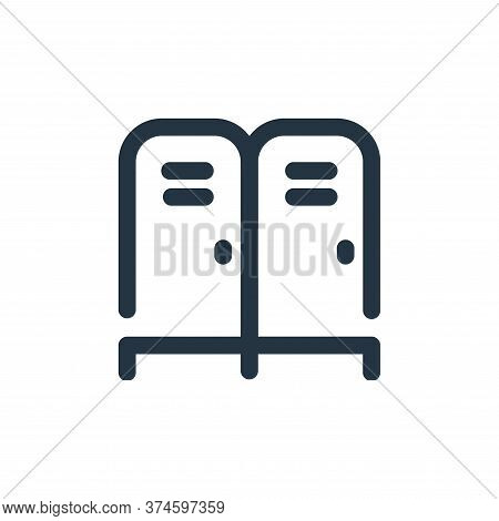 locker icon isolated on white background from school collection. locker icon trendy and modern locke