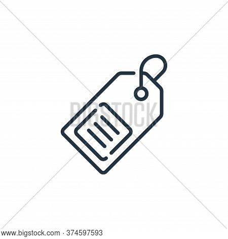 price tag icon isolated on white background from mall collection. price tag icon trendy and modern p