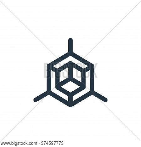 d graphics icon isolated on white background from virtual reality collection. d graphics icon trendy