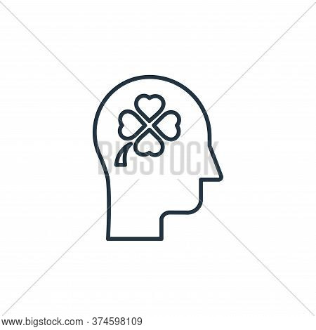 thinking icon isolated on white background from casino collection. thinking icon trendy and modern t