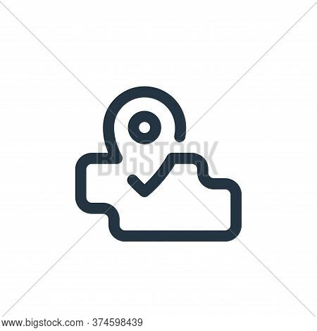 map icon isolated on white background from travel collection. map icon trendy and modern map symbol