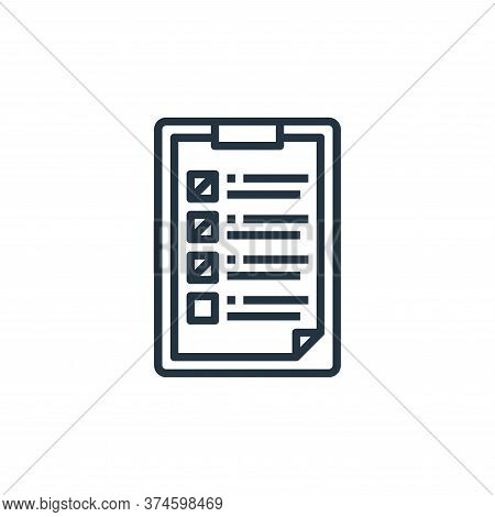 check list icon isolated on white background from work from home collection. check list icon trendy