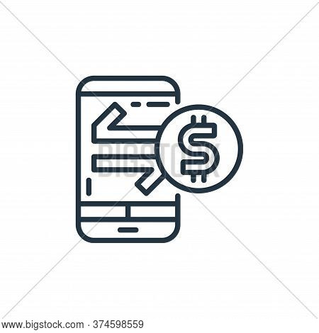 mobile banking icon isolated on white background from money and currency collection. mobile banking
