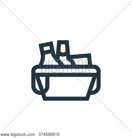 picnic basket icon isolated on white background from hobbies collection. picnic basket icon trendy a
