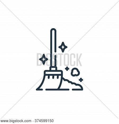broom icon isolated on white background from cleaning collection. broom icon trendy and modern broom