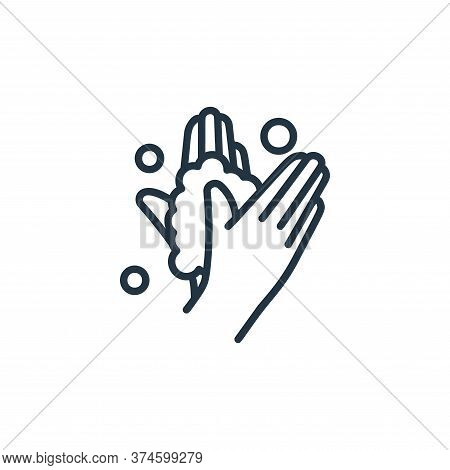 washing hand icon isolated on white background from covid collection. washing hand icon trendy and m