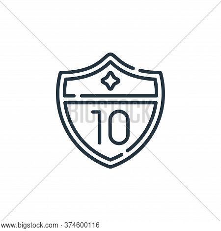 highway icon isolated on white background from navigation and maps collection. highway icon trendy a