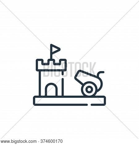 cannon icon isolated on white background from videogame collection. cannon icon trendy and modern ca