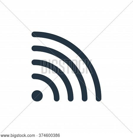 wifi icon isolated on white background from user interface collection. wifi icon trendy and modern w