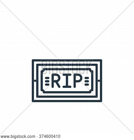funeral icon isolated on white background from funeral collection. funeral icon trendy and modern fu