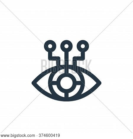eye icon isolated on white background from virtual reality collection. eye icon trendy and modern ey
