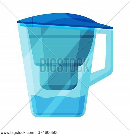 Water Filter Jug, Special Modern Technologies For Water Purification Vector Illustration On White Ba
