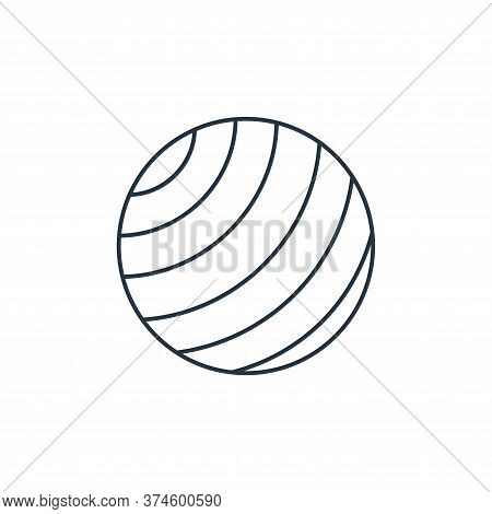 yoga ball icon isolated on white background from fitness collection. yoga ball icon trendy and moder