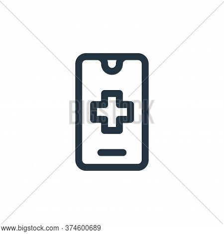 smartphone icon isolated on white background from emergencies collection. smartphone icon trendy and