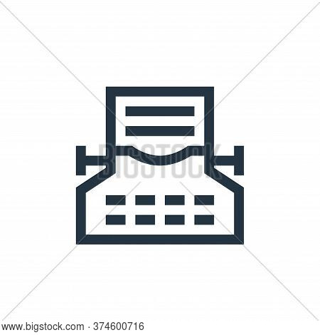 typing icon isolated on white background from news collection. typing icon trendy and modern typing