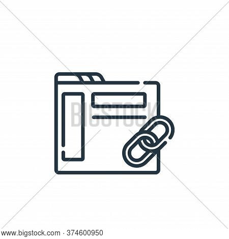 link icon isolated on white background from web development collection. link icon trendy and modern