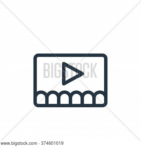 video icon isolated on white background from online learning collection. video icon trendy and moder