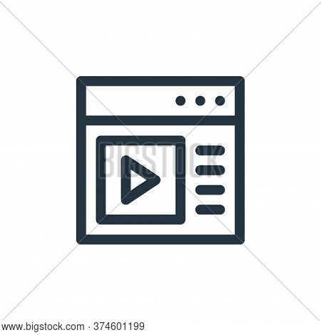 browser icon isolated on white background from communication and media collection. browser icon tren