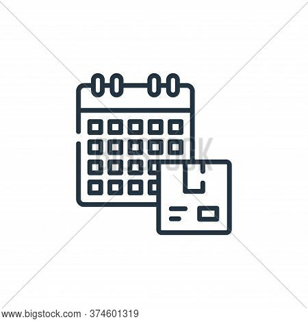 calendar icon isolated on white background from delivery collection. calendar icon trendy and modern