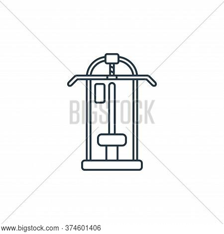 pull up bar icon isolated on white background from fitness collection. pull up bar icon trendy and m