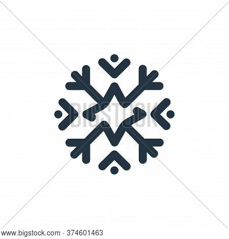 snowflake icon isolated on white background from weather collection. snowflake icon trendy and moder