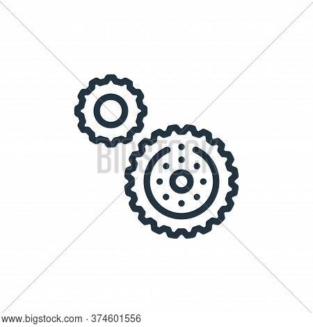 gear icon isolated on white background from autoracing collection. gear icon trendy and modern gear