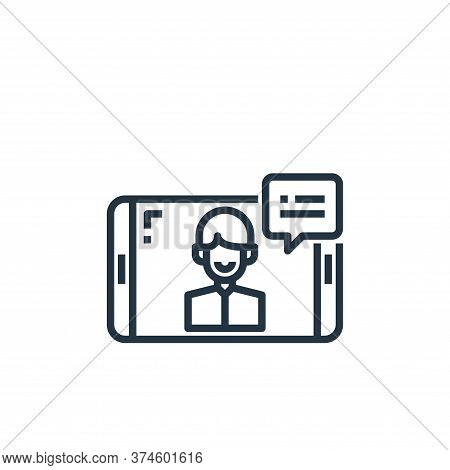 video calling icon isolated on white background from work from home collection. video calling icon t