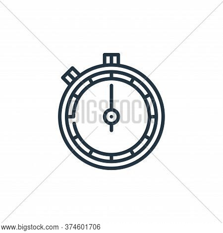stopwatch icon isolated on white background from management collection. stopwatch icon trendy and mo