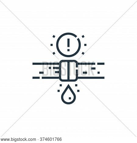 leak icon isolated on white background from smarthome collection. leak icon trendy and modern leak s