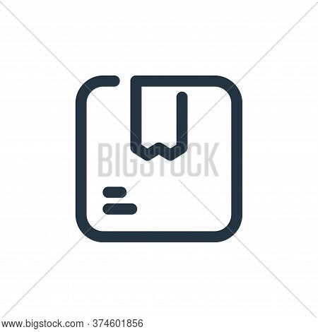 box icon isolated on white background from shopping collection. box icon trendy and modern box symbo