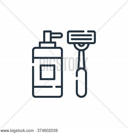 Shaving razor icon isolated on white background from hygiene routine collection. Shaving razor icon