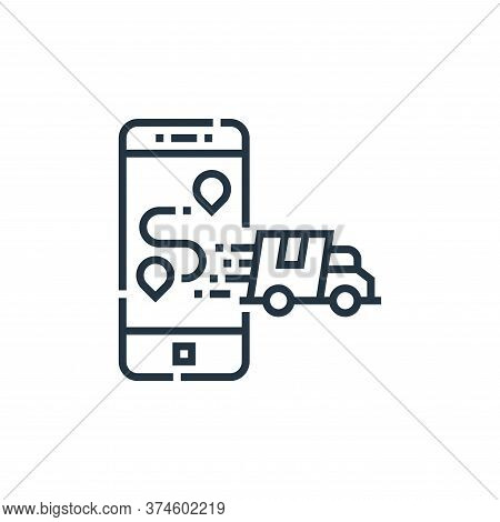 smartphone icon isolated on white background from delivery collection. smartphone icon trendy and mo