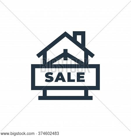 sale icon isolated on white background from real estate collection. sale icon trendy and modern sale
