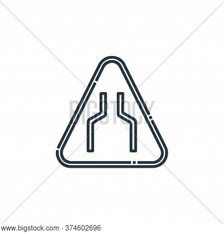 narrow icon isolated on white background from signaling collection. narrow icon trendy and modern na