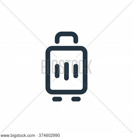 luggage icon isolated on white background from travel collection. luggage icon trendy and modern lug