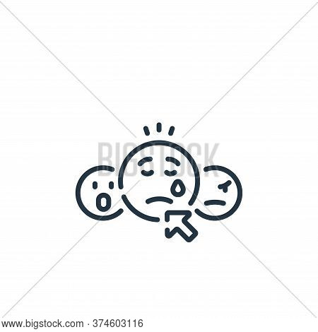 sad face icon isolated on white background from social media collection. sad face icon trendy and mo